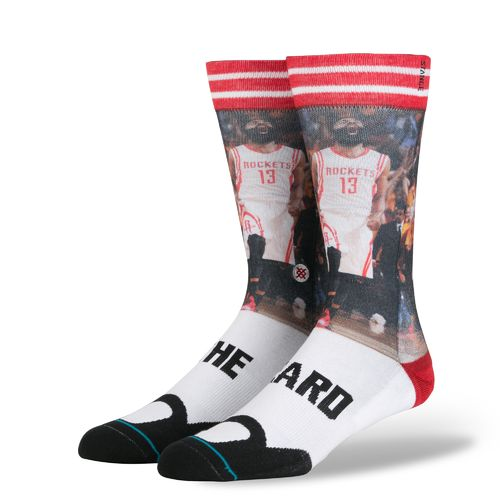 Stance Men's Houston Rockets James Harden The Beard Crew Socks