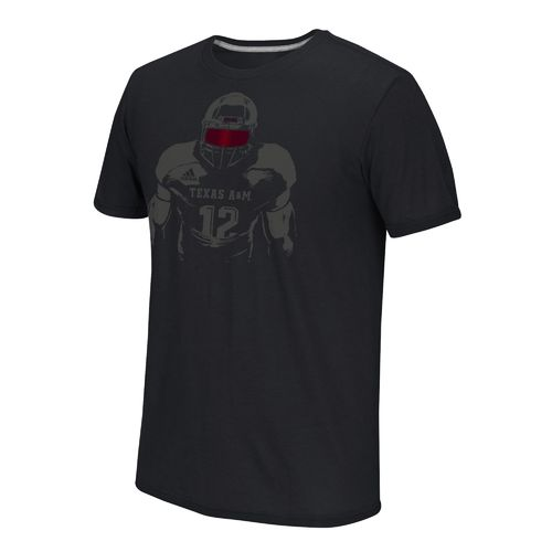 adidas™ Men's Texas A&M University Face Mask Color Pop T-shirt