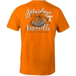 Image One Women's University of Tennessee Laces and Bows Comfort Color T-shirt
