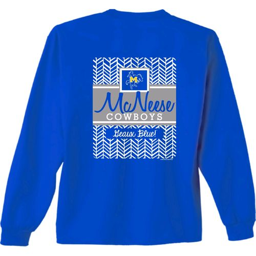 New World Graphics Women's McNeese State University Herringbone Long Sleeve T-shirt