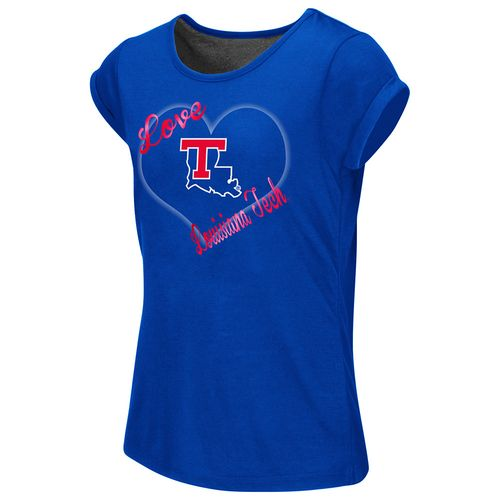 Colosseum Athletics™ Girls' Louisiana Tech University Baywatch Split Back T-shirt
