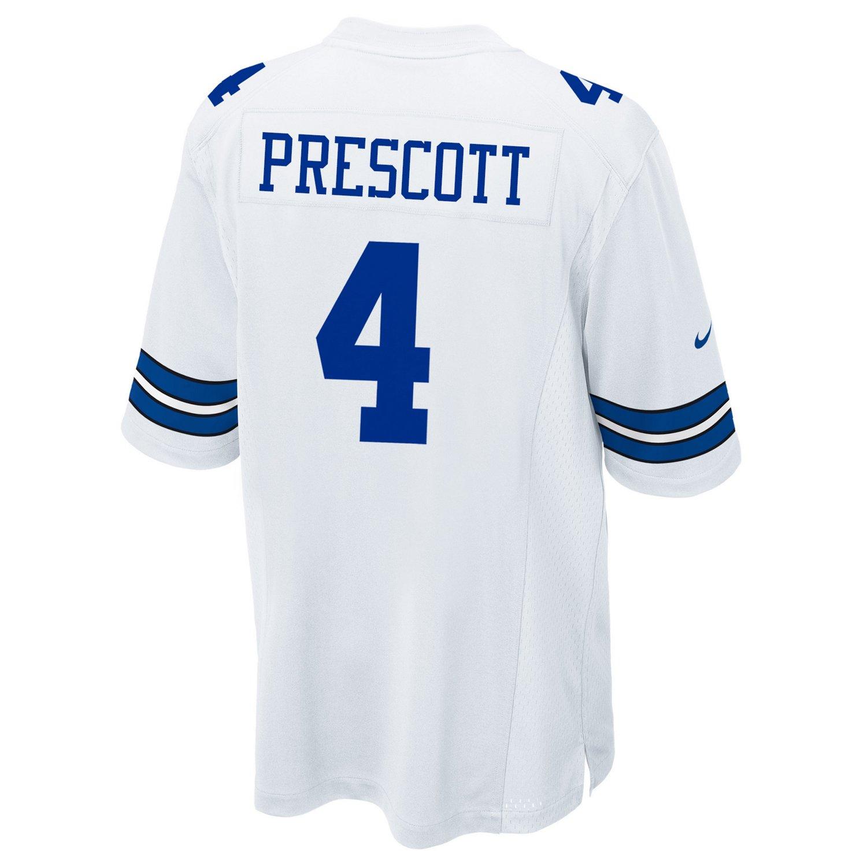 Display product reviews for Nike Men's Dallas Cowboys Dak Prescott 4 Game Replica Jersey