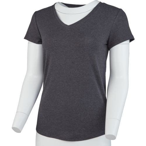 Display product reviews for BCG Women's Horizon Short Sleeve V-neck Solid Heather Top