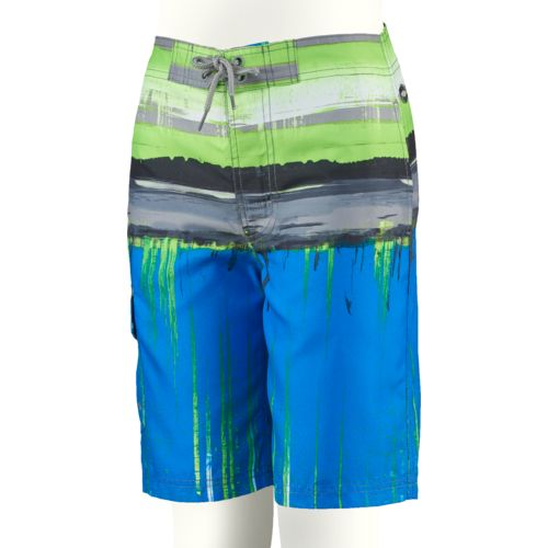 O'Rageous Boys' Tie Dye Stripe True Boardshort