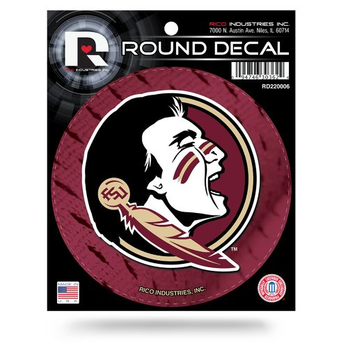 Tag Express Florida State University Round Decal