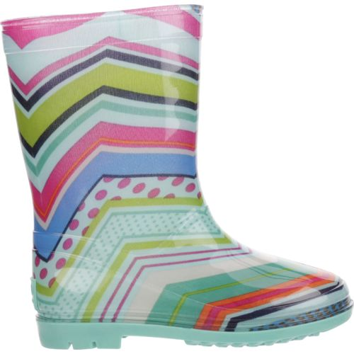 Austin Trading Co. Girls' Chevron PVC Rubber Boots