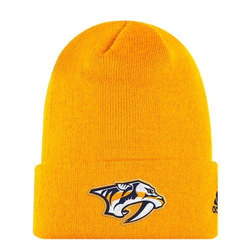 adidas Men's Nashville Predators Basic Logo Cuffed Knit Cap