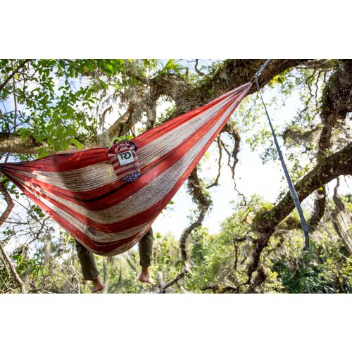 Twisted Root Design Twisted Print USA Wood Flag Hammock - view number 6
