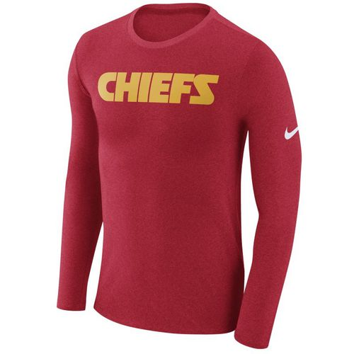 Nike™ Men's Kansas City Chiefs Marled Word Long Sleeve T-shirt