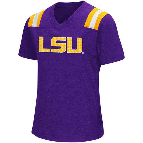 Colosseum Athletics Girls' Louisiana State University Rugby Short Sleeve T-shirt