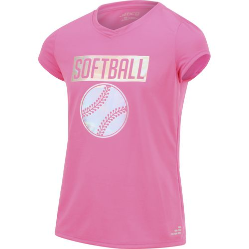BCG Girls' Iridescent Softball Short Sleeve T-shirt - view number 3