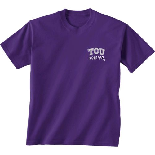 New World Graphics Girls' Texas Christian University Where the Heart Is Short Sleeve T-shirt - view number 2