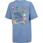 New World Graphics Women's McNeese State University Comfort Color Circle Flowers T-shirt - view number 2