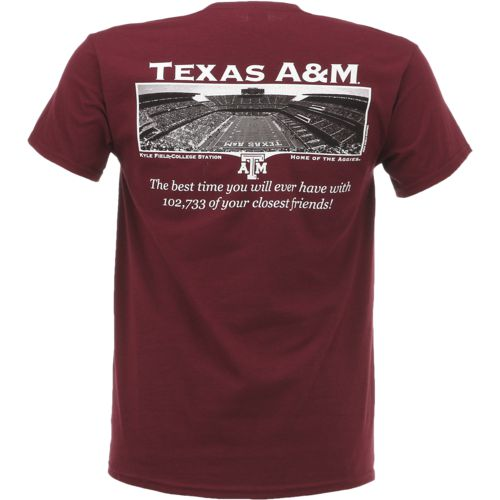 New World Graphics Men's Texas A&M University Friends Stadium T-shirt