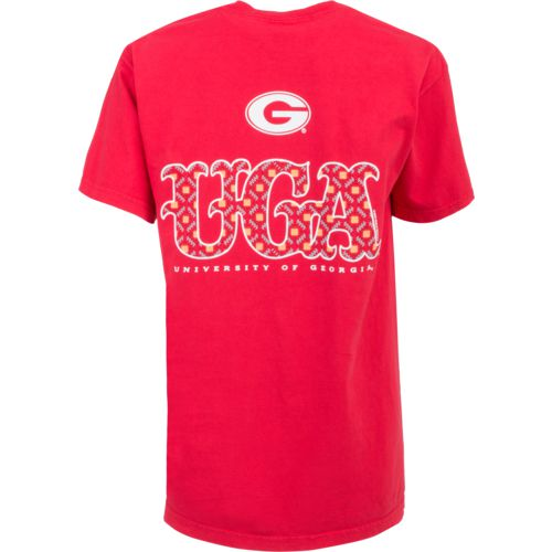 New World Graphics Women's University of Georgia Comfort Color Initial Pattern T-shirt - view number 1
