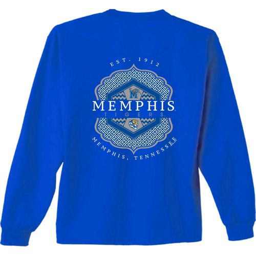 New World Graphics Women's University of Memphis Faux Pocket Long Sleeve T-shirt