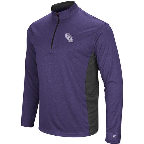 Colosseum Athletics Men's Stephen F. Austin State University Audible 1/4 Zip Windshirt