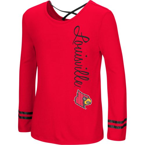 Colosseum Athletics Girls' University of Louisville Marks the Spot Strappy Back Long Sleeve T-shirt