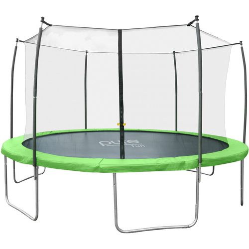 Pure Fun Dura-Bounce 15 ft Round Trampoline with Enclosure