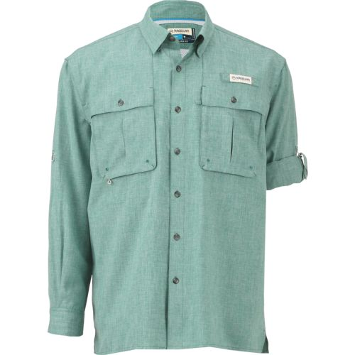 Magellan Outdoors Men's Aransas Pass Heather Long Sleeve Fishing Shirt