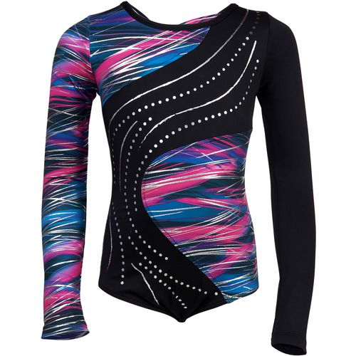 Capezio Girls' Future Stars Light Streaks Long Sleeve Leotard