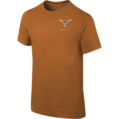 Nike Boys' University of Texas Cotton Short Sleeve T-shirt