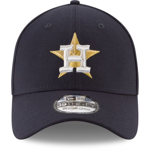 New Era Men's Houston Astros Gold Patch 39THIRTY Cap