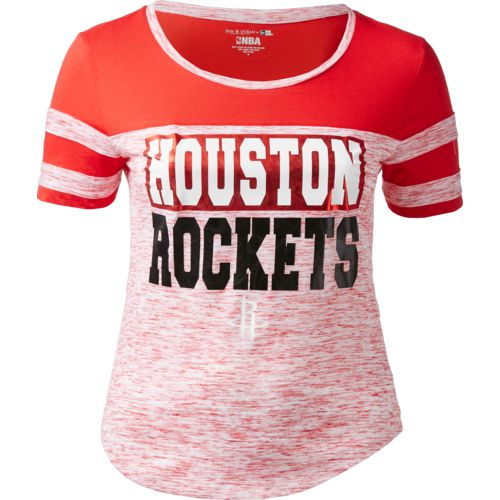5th & Ocean Clothing Women's Houston Rockets Space Dye Scoop T-shirt