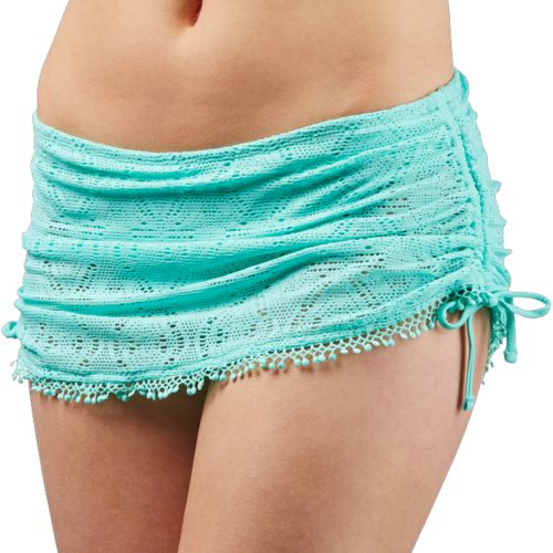 O'Rageous Juniors' Solid Crochet Skirtini Swim Bottoms