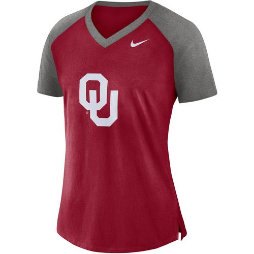 Nike Women's University of Oklahoma Fan V-neck Top