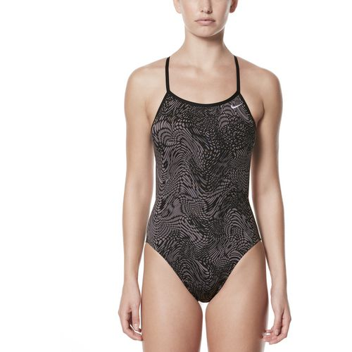 Nike Women's Geo Alloy Modern Cutout 1-Piece Performance Swimsuit