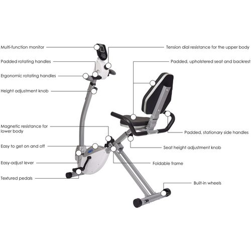 Stamina Recumbent Exercise Bike with Upper Body Exerciser - view number 4