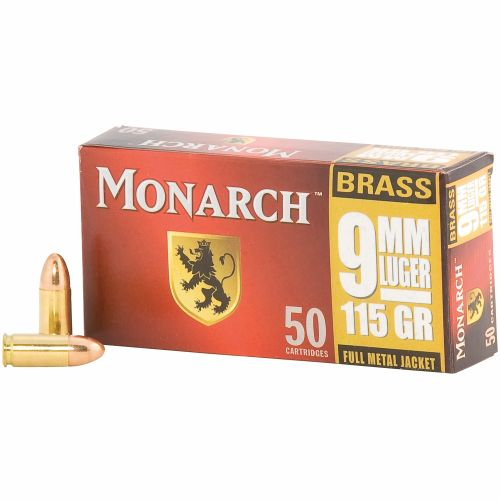 Monarch® FMJ 9 mm Luger 115-Grain Pistol Ammunition - view number 2