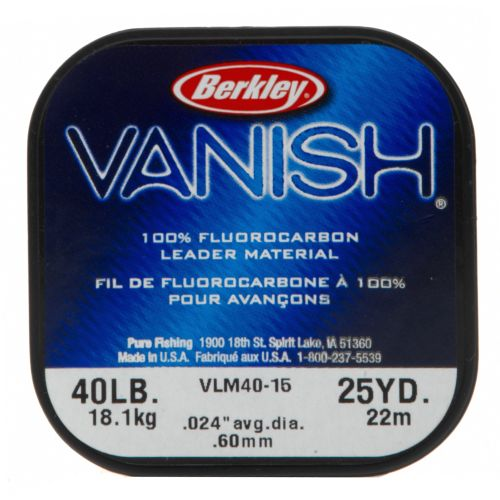 Berkley® Vanish® 25-Yard 100% Fluorocarbon Leader