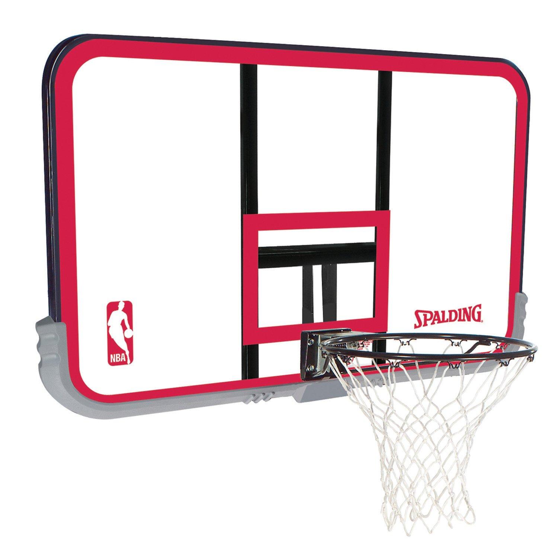 "Spalding 50"" Polycarbonate Basketball Backboard and Rim Combo"