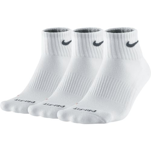 Nike Men's Dri-FIT Half Cushion Quarter Socks 3-Pair