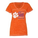 Step Ahead Blue 84 Women's Clemson Bo V-neck T-shirt