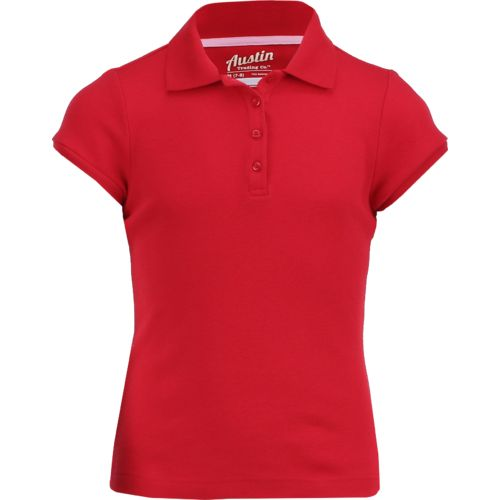 Austin Trading Co.™ Girls' Uniform Short Sleeve Interlock Polo Shirt