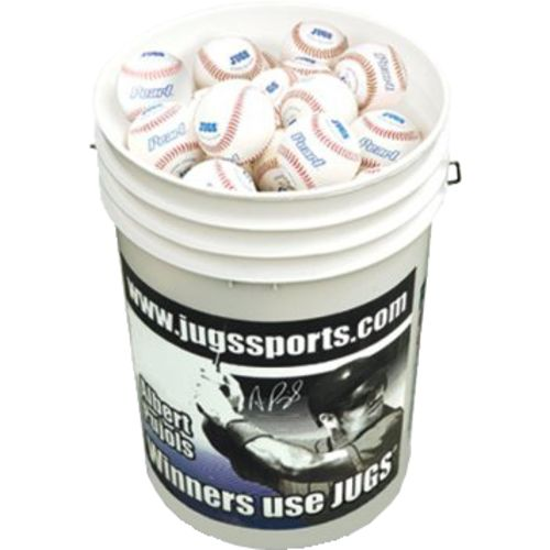 "JUGS Pearl® 9"" Genuine Leather Practice Baseballs 48-Pack"