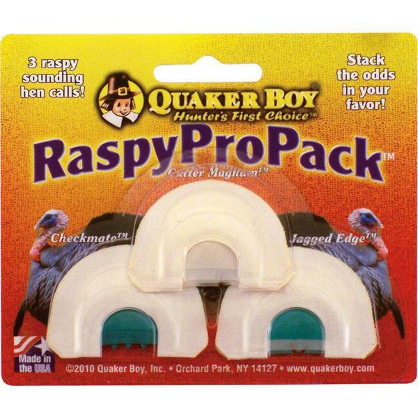 Quaker Boy Raspy Turkey Calls Pro Pack