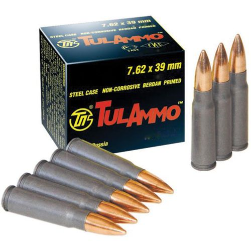 TulAmmo 7.62 x 39mm 122-Grain Centerfire Rifle Ammunition