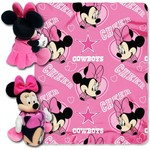 The Northwest Company Dallas Cowboys Minnie Mouse Hugger and Fleece Throw Set - view number 1