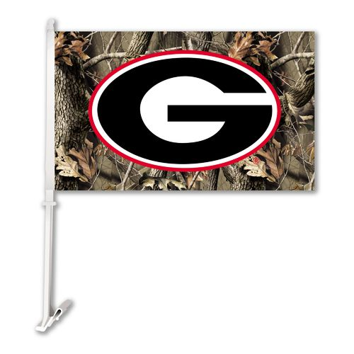 BSI University of Georgia Realtree 2-Sided Car Flag