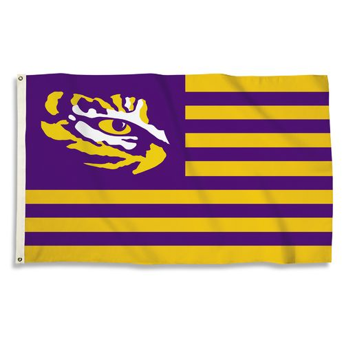 BSI Louisiana State University USA Motif Flag