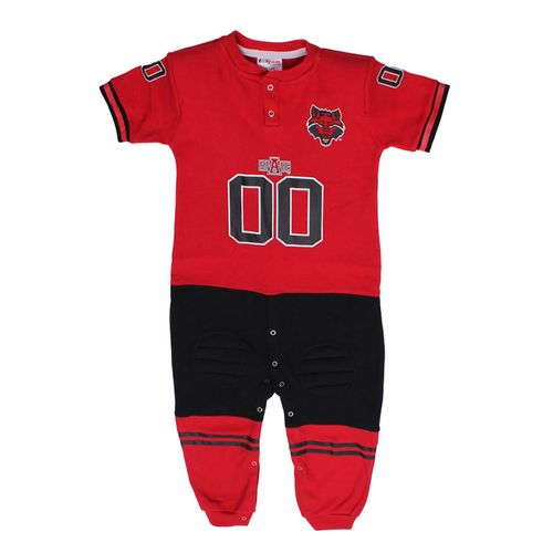 Glitter Gear Toddlers' Arkansas State University Long Sleeve Footy Suit