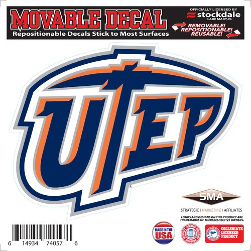Stockdale University of Texas at El Paso 6' x 6' Decal