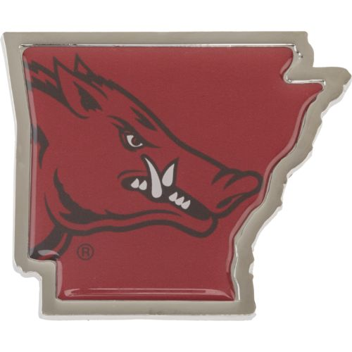 Stockdale University of Arkansas Chrome State Shape Auto Emblem
