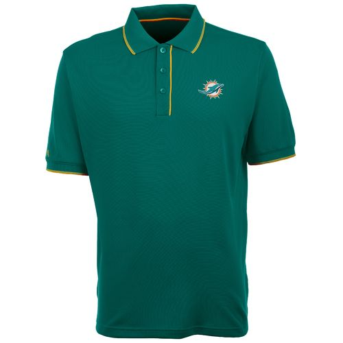 Antigua Men's Miami Dolphins Elite Polo Shirt - view number 1