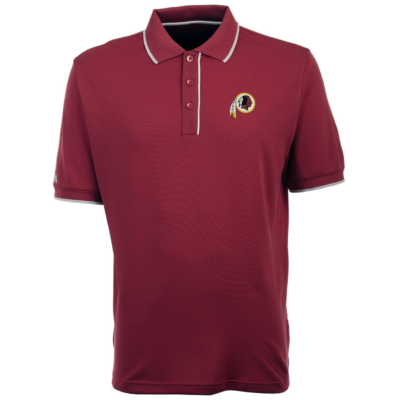 Antigua Men's Washington Redskins Elite Short Sleeve Polo
