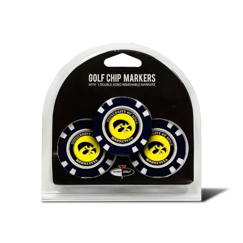 Team Golf University of Iowa Poker Chip and Golf Ball Marker Set - view number 1